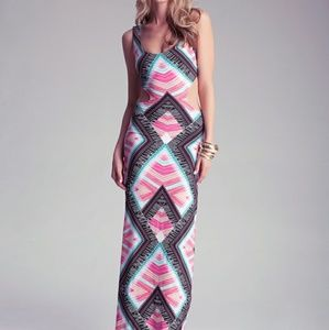 Bebe Cut Out Maxi Dress